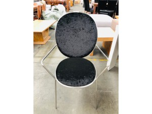 CEYLON BLACK DINING CHAIR WITH ARM (2PC/CTN)