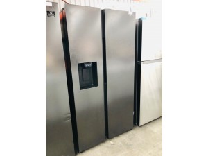 SAMSUNG 676 LITRE SIDE BY SIDE BY SIDE FRIDGE WITH WATER DISPENSOR (ICE MAKER NOT WORKING) PRODUCT# RS64R5315B4 SERIAL # 1000091873