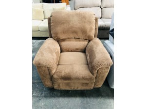 BROWN SINGLE FABRIC RECLINER