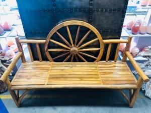 WAGON WHEEL BENCH SEAT