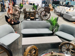 OUTDOOR LOUNGE SUITE 2 + 1 + 1 - USED - SOLD AS IS