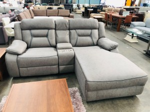 SEYMOUR L - SHAPE LOUNGE (RHF) - 3 PCS INCL END RECLINING AND CONSOLE (N)