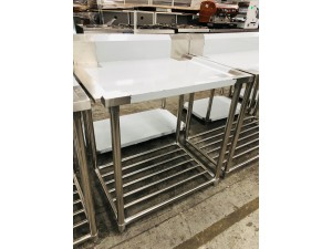 S/S BENCH DISHWASHER LEFT SIDE OUTLET 900X700X900 (WBBD7-0900L/A)