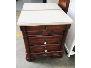 ORLANDO MARBLE TOP BEDSIDE SOLD AS PAIR