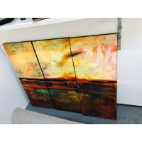 3 PANEL OIL PAINTING (3 PAINTINGS MAKE UP 1 PICTURE)