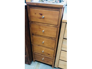 SMALL 5 DRAWER TALLBOY - FACTORY SECOND