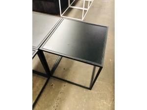 SQUARE BLACK SIDE TABLE 500 X 500 X 500