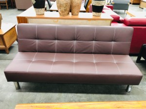 PU CHOCOLATE SOFA BED/ CLICK CLACK