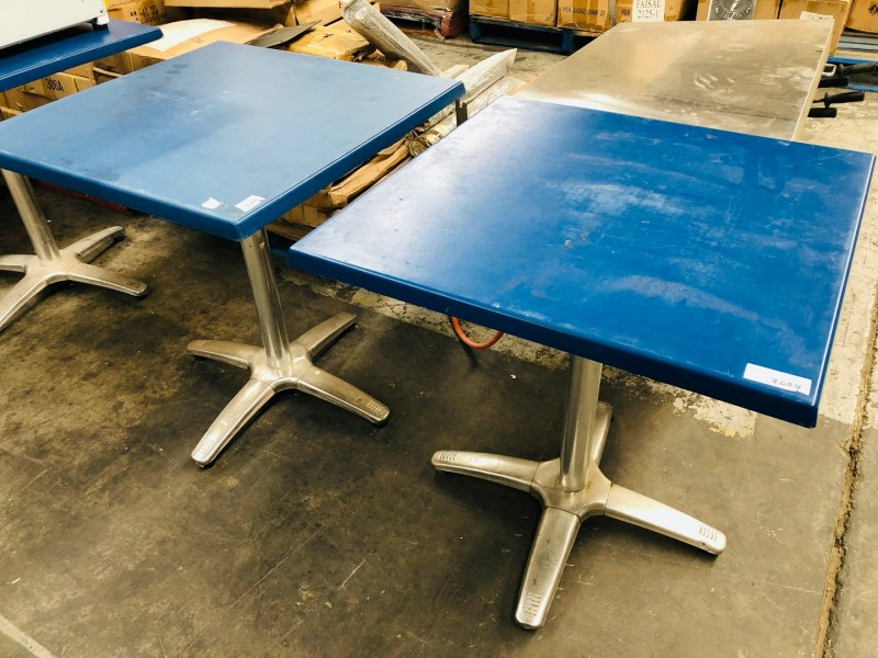 ASSORTED CAFE TABLES - SOLD AS IS