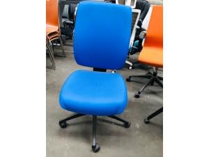 ERGOTECH HIGH BACK MANAGER CHAIR - BLUE FABRIC #10813-02P
