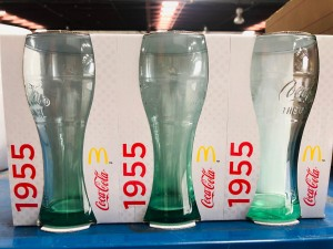 COCA - COLA GLASS CUP SOLD AS A BOX (QTY 36 PER BOX)