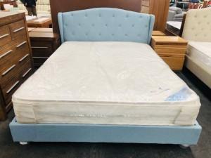 QUEEN BLUE BED
