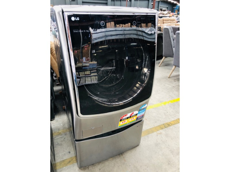 LG WASHING MACHINE 16KG/9KG TWIN LOAD WASHER/DRYER PRODUCT#WD1216HTE SERIAL#1000092773