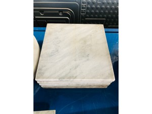 POT STAND GREY MARBLE 20CM (SQ)