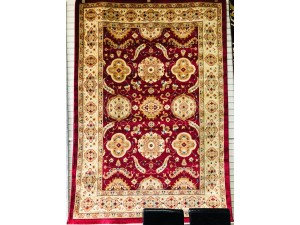 PERSIAN 160 X 230 RED RUG (1269)