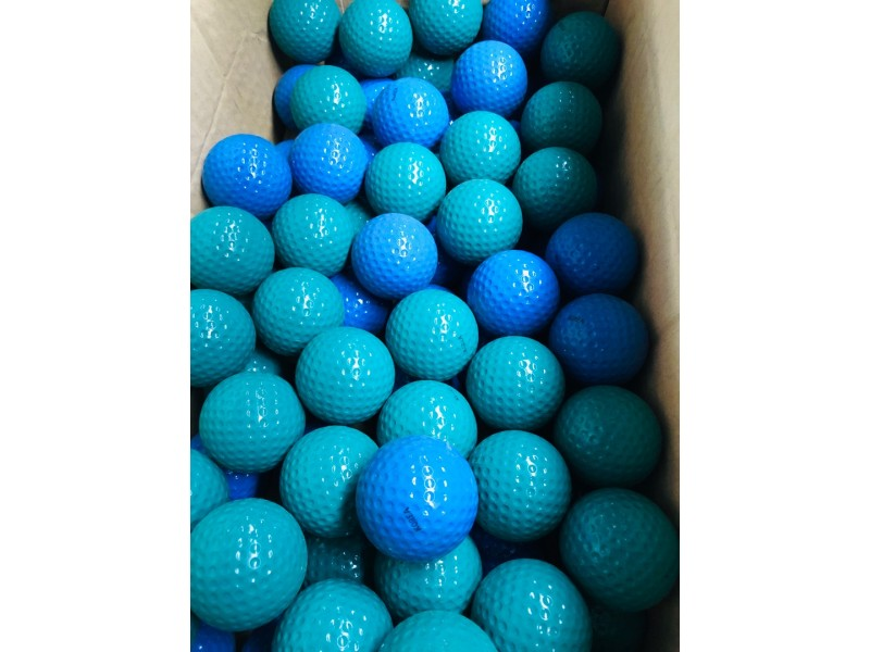 GOLF BALLS BLUE/GREEN APPROX QTY 96 - SOLD AS ONE LOT