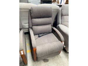 CHARLESTON POWER LIFT CHAIR ESPRIT/SLATE F/S FABRIC PILLING - RRP $1400 (I-893078 SN-63493152)