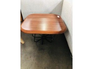 LOUIS CORNER TABLE WALNUT (DAMAGED - SOLD AS IS)