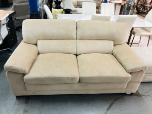 2.5 SEATER FABRIC LOUNGE (RRP$1200) - FACTORY SECOND