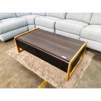 4 DRAWER COFFEE TABLE IN CHOCOLATE AND BEECH COLOR