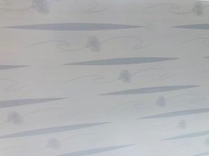 PVC CLADDING 2.95M X 300MM X 8MM WHITE/GREY FLOWER PATTERN (10/BOX) #H-M026 (SOME DAMAGE) SOLD PER PIECE