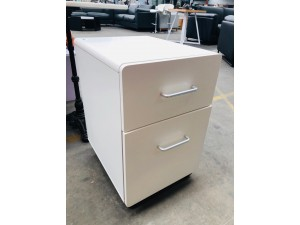 2 DRAWERS WHITE FILING CABINET