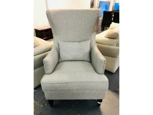 MONACO ASH LINEN ACCENT WING CHAIR