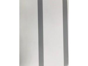PVC CLADDING 2.8M X 240MM X 8MM SILVER, WHITE STRIPE (10/BOX) #W-109 SOLD PER PIECE