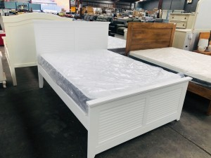 LILLY DOUBLE BED- SNOW - SOLD AS IS