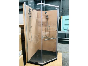 1M X 1M ANGLE SHOWER SCREEN