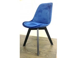 OAKLANDS DINING CHAIR - BLUE FABRIC - NEW (2 CHAIRS PER BOX)