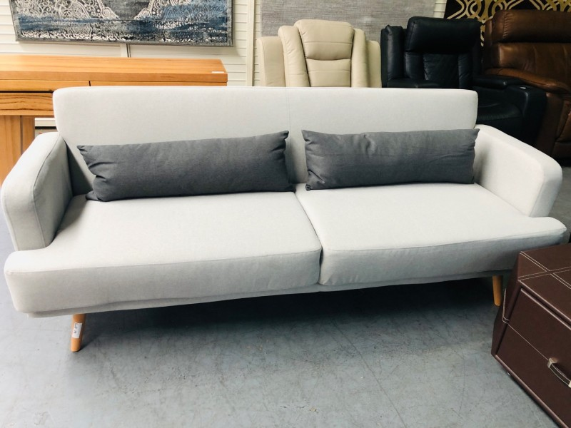 NEW IN BOX GEMMA EZY-ACTION LIGHT GREY - FOLDS DOWN TO SOFA BED