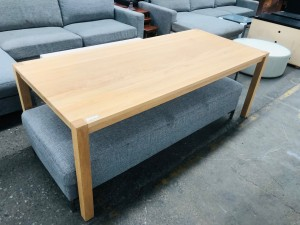 BEECH TIMBER DINING TABLE 2000 X 900