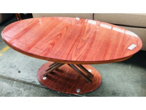 BROWN OVAL COFFEE TABLE