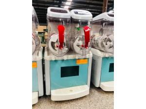 ICE8L-2 - BENCH TOP FRAPPE/SLUSHY MACHINE DOUBLE BOWL 520X480X810MM
