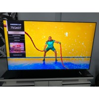 """SAMSUNG 75"""" QLED 4K UHD SMART TV (PRODUCT:QA75Q60TAW) SOLD AS IS - COMES WITH 30 DAYS WARRANTY FROM THE DATE OF PURCHASE SN:104128 - HORIZONTAL LINE"""