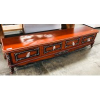 4 DRAWER TIMBER ROSEWOOD TV STAND