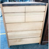 ACCENT 7 DRAWER TALLBOY - FACTORY SECOND (BA259-C7)