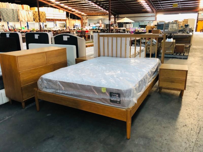 LUXE BEDROOM SUITE - QUEEN BED, 2 BEDSIDES + TALLBOY - FACTORY