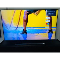 """SAMSUNG 75"""" 4K QLED SMART TV - PRODUCT#QA75Q70TAW - SOLD AS IS - COMES WITH 30 DAYS WARRANTY FROM THE DATE OF PURCHASE SN:112282 - HORIZONTAL LINE ON SCREEN"""