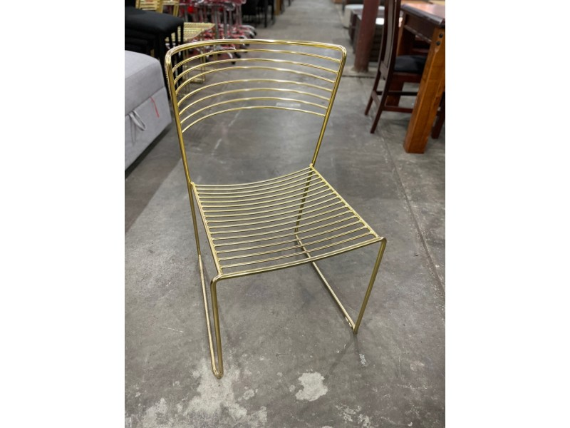 GOLD FRAME DINING CHAIR - SOLD AS IS