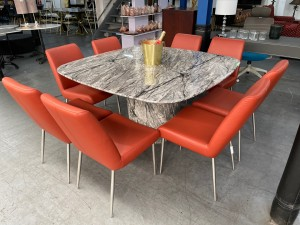 VANNES 1.5M SQUARE MARBLE DINING TABLE (ST-153) Table Only