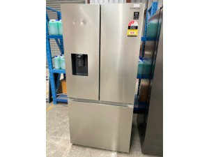SAMSUNG 495L BLACK THREE DOOR FRIDGE WITH WATER DISPENSER MODEL:RF44A5202SL (SRF5300SD) SERIAL: 115060 - SOLD AS IS - INCLUDES 30 DAY WARRANTY FROM DATE OF PURCHASE
