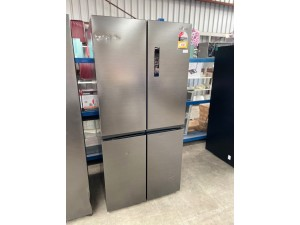 SAMSUNG 488L BLACK FOUR DOOR FRIDGE MODEL:RF48A4000B4 (SRF5500B) SERIAL: 115064 *DENT ON THE DOOR* - SOLD AS IS - INCLUDES 30 DAY WARRANTY FROM DATE OF PURCHASE