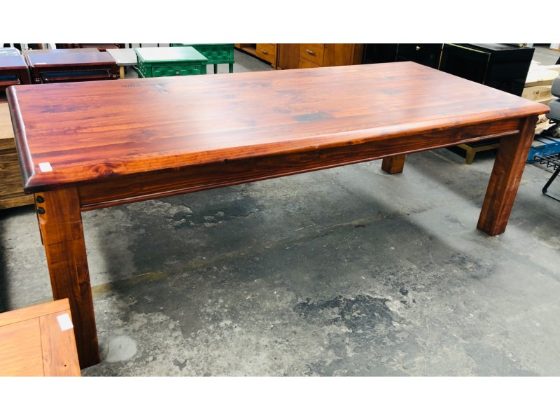 2.1M TIMBER DINING TABLE - FACTORY SECOND
