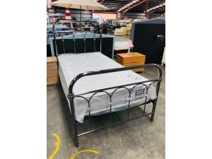 CRYSTAL KING SINGLE BED T/SLAT BLACK NICKLE