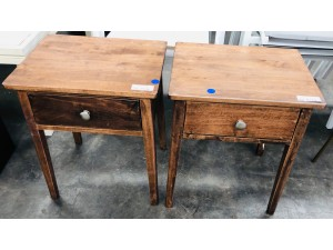 BROWN SIDE TABLE X 2