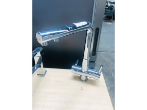 LONG NECK KITCHEN MIXER WITH FILTER SOLD AS IS