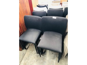 BLACK FABRIC STACKABLE CHAIRS