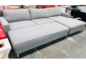 THORN FABRIC LOUNGE SUITE WITH CHAISE & OTTOMAN